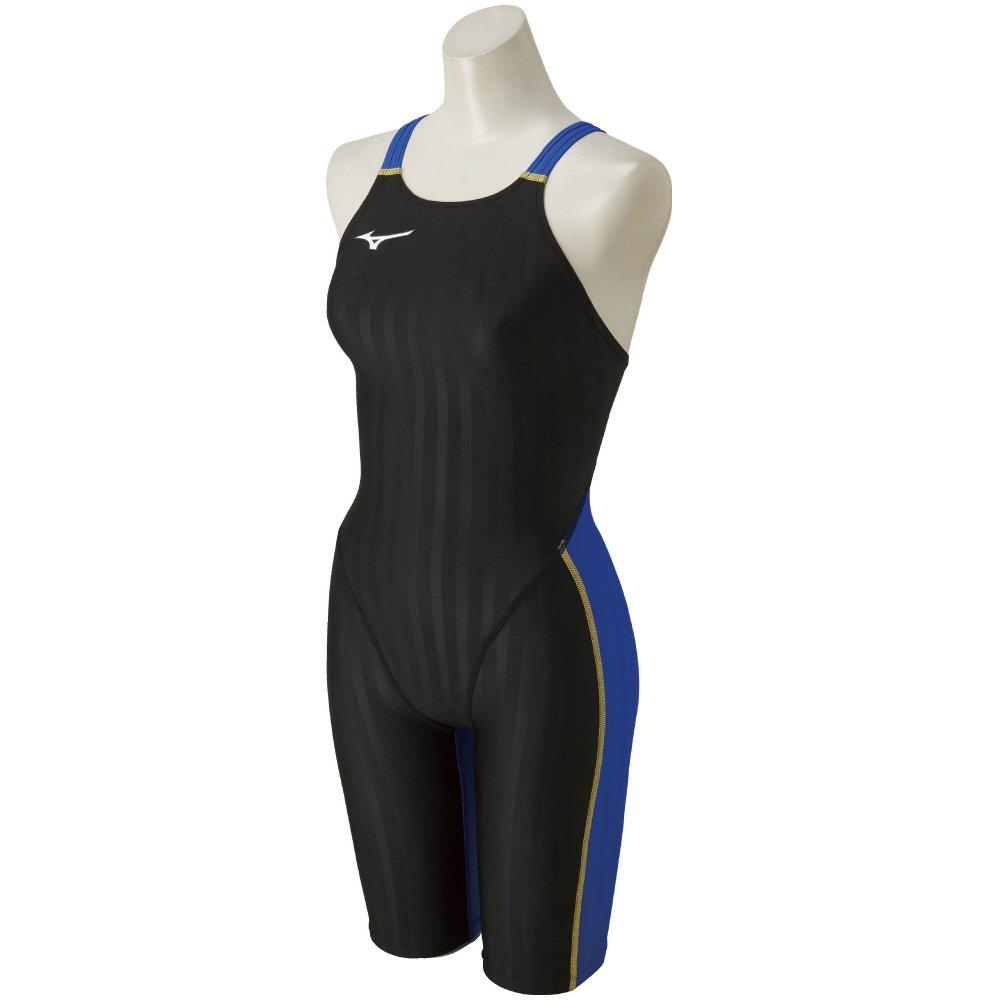 MIZUNO(ミズノ) レース用競泳水着 レディース ストリームアクセラ ハーフスーツ FINA承認 N2MG8226 B003H4QIQ6 X-Small|92:ブラック×ブルー 92:ブラック×ブルー X-Small