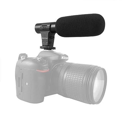 Artman - Micrófono de vídeo para cámara Canon Nikon Sony y más ...