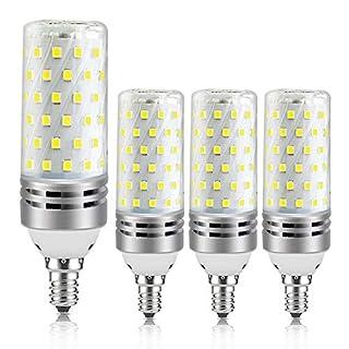 E12 LED Corn Bulbs, 16W Daylight White 6000K Candelabra Light Bulbs, 1500LM, 100W Equivalent, E12 Base LED Chandelier Bulbs, Non-Dimmable LED Lamp, 4Pack