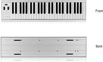 Muslady Piano Teclado Electrónico 49 Teclas Iluminadas Portátil ...