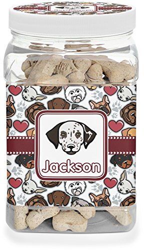 - RNK Shops Dog Faces Pet Treat Jar (Personalized)