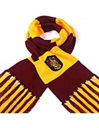 Fashion warmth surrounding contrast stripes tassels autumn and winter wool COS clothing from Harry Potter and Hawkworth RedWind (Gryffindor)