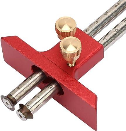 Calibre de marcado de ruedas herramienta de calibre de mortaja para madera para carpinter/ía rojo