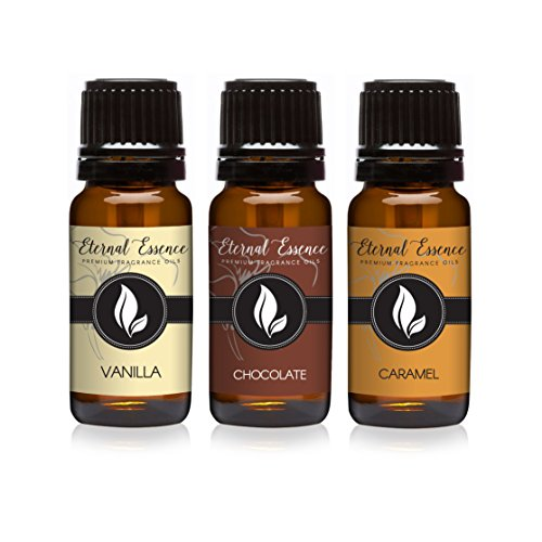 Trio (3) - Vanilla, Chocolate & Caramel - Premium Fragrance Oil Trio - 10ml (Over Fragrance Oil)