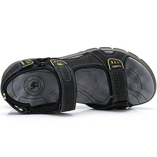 para Transpirable Hombres de Viajar para Perfecto Casual Verano Libre en Zapatos al Agujero Sandalias con la Aire Playa Black Caminar Sneaker zpqxPHpn
