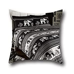 Connor Coco Oil Painting Art Elephant Standard Pillowcase Throw Pillow Square ( 18*18 )