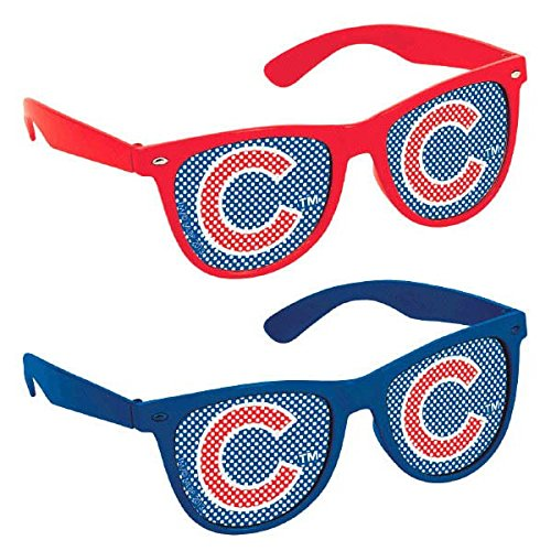 Licensed MLB Chicago Cubs Party Printed Glasses Accessory, Plastic, 2