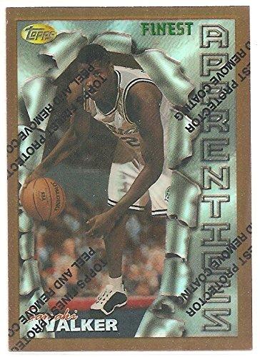 (Samaki Walker Topps Finest Bronze Refractor Dallas Mavericks Rookie Card #42)