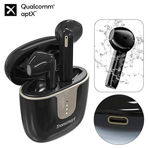 chollos oferta descuentos barato Tronsmart Onyx Ace Auriculares Inalámbricos Bluetooth 5 0 24H Playtime Soporte Aptx HD Calidad de Sonido TWS Control Tactil y Micrófono Integrado Cancelación de Ruido Carga Rapida y IPX5 Negro