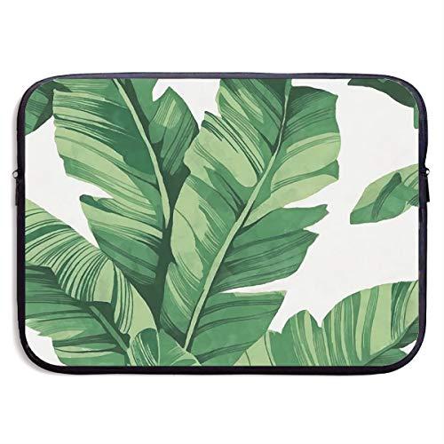 Lovesofun Tropical Plant Banana Tree Leaves Waterproof Neoprene Laptop Sleeve Case - Portable Business Notebook Liner Protective Bag for MacBook Pro/MacBook Air/Asus/Dell