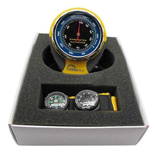 4 en 1 barómetro de altímetro multifuncional con la medición de la presión del termómetro del compás para acampar al...