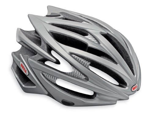 "Bell Volt Racing Bicycle Helmet Matte Titanium Medium (55 - 59cm / 21.75 - 23.25"")"