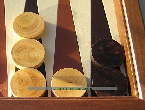 Dal Negro set of 30 wooden 35mm Backgammon pieces