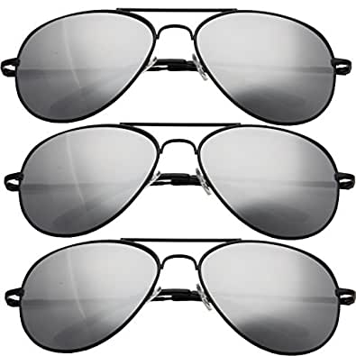 grinderPUNCH® Aviator Mirror Tear drop Sunglasses (3 PAIR)