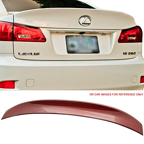- Pre-painted Trunk Spoiler Fits 2006-2013 Lexus IS250 350 IS-F | IK Style ABS Painted Starfire #3R1 Matador Red Mica Trunk Boot Lip Wing Deck Lid Other Color Available By IKON MOTORSPORTS | 2007