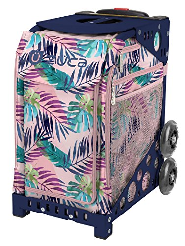Zuca Pink Oasis Sport Insert Bag with Frame and Wheels (Navy Frame with Flashing (Pink Oasis)