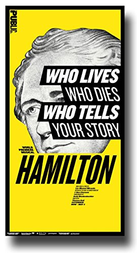 The Public Theater Classic Hamilton Musical Poster