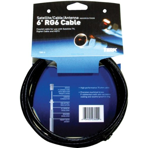Amazon.com: Terk RG6 Double Braided Coaxial Cable TRG12 (12 Feet) (Discontinued by Manufacturer): Home Audio & Theater