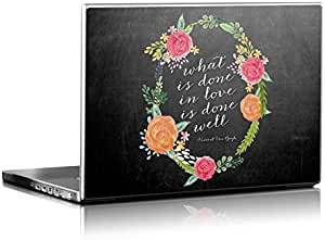 Love Done Well Design Installable Laptop Skin for 15.4 inch Laptops