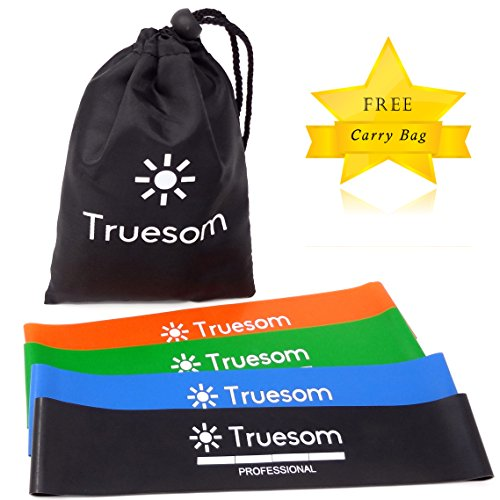 Truesom Seniors Resistance Band. For Senior Friendly Workout Exercises, Rehab or Physical Therapy. Set of 4. [PERFECT GIFT] for Parents or Elderly