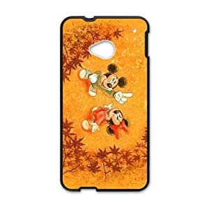 Disney Mickey Mouse Minnie Mouse HTC One M7 Cell Phone Case Black Exquisite designs Phone Case KM47718J