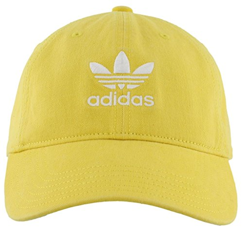 Relaxed Golf Cap (adidas Men's Originals Relaxed Fit Strapback  Cap, Yellow/White, One Size)