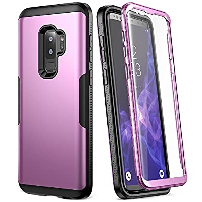Galaxy S9+ Plus Case, YOUMAKER Full Body Heavy Duty Protection Slim Fit Shockproof Bumper Case Cover for Samsung Galaxy S9 Plus 6.2 inch Without Built-in Screen Protector by YOUMAKER
