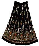 FOI Rayon Skirt Indian Hippie Kjol Jupe Rock Gypsy Retro Boho Falda Women E