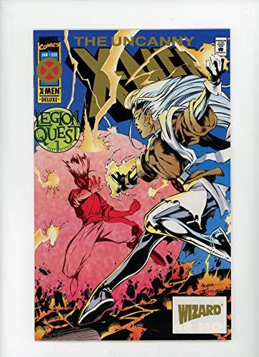 UNCANNY X-MEN #320   Marvel   January 1995   Vol 1   Deluxe, Gold Logo Variant Cover, Wizatd #41 -