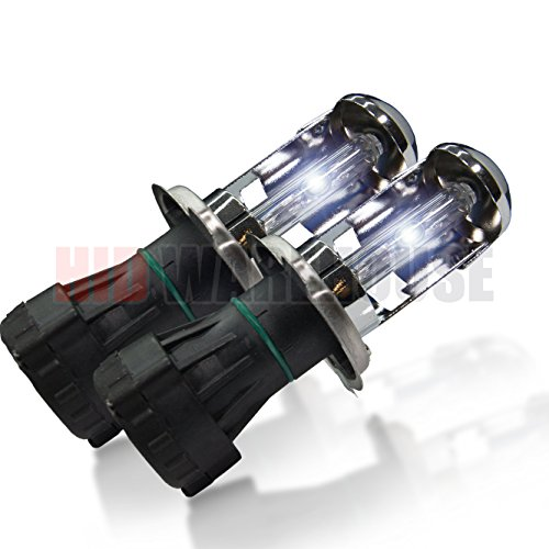 Replacement Altima 1997 Nissan (HID-Warehouse HID Xenon Replacement Bulbs - Bi-Xenon H4 / 9003 6000K - Light Blue (1 Pair) - 2 Year Warranty)