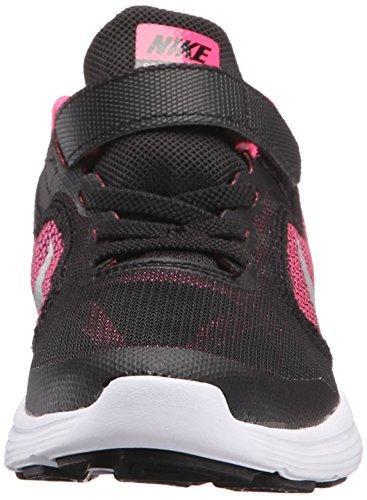 NIKE Kids' Revolution 3 Running Shoe (PSV), Black/Metallic Silver/Hyper Pink/White, 1.5 M US Little Kid by Nike (Image #4)