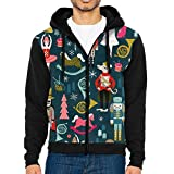 Nutcracker Ballet Xmas Holiday Christmas Mens Zip Up Hoodie Sweatshirts With Hat And Pockets