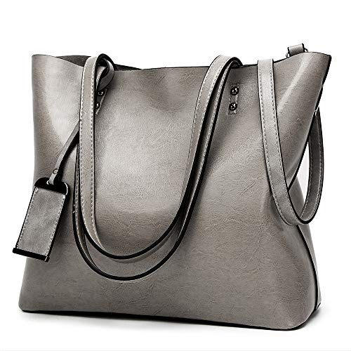 ALARION Women Top Handle Satchel Handbags Shoulder Bag Messenger Tote Bag - Tote Grommet Bag