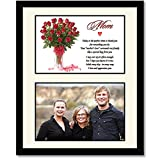 Birthday Gift for Mom – Touching Poem in Red Roses Design - Add Photo
