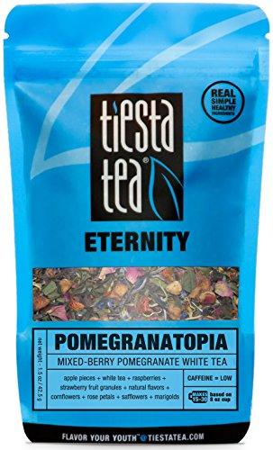 Tiesta Tea Pomegranatopia, Mixed-Berry Pomegranate White Tea, 30 Servings, 1.5 Ounce Pouch, Low Caffeine, Loose Leaf White Tea Eternity Blend, Non-GMO