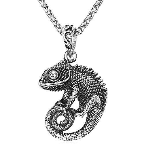 Plated Chameleon Animal Pendant Chain