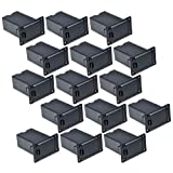 15pcs Black 9v Battery Holder/case/box Compartment Cover Case Guitar&bass Pickup