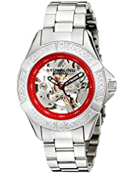 Stuhrling Original Women's Lifestyles Regatta Skeleton Automatic Diamond Watch Red 331.121156