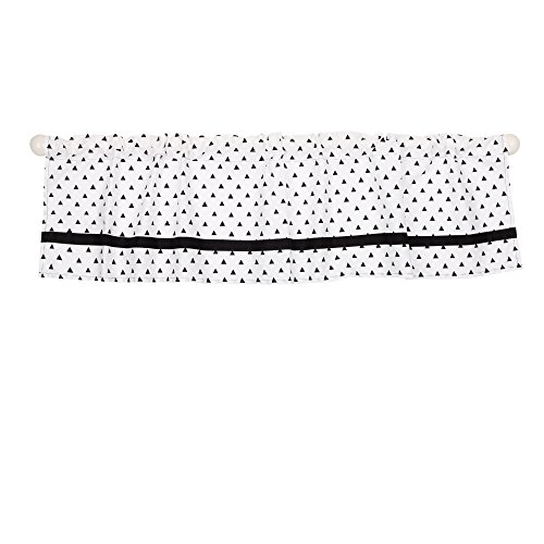 Black Triangle Dot Window Valance by The Peanut Shell - 100% Cotton Sateen