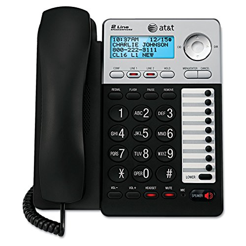 Analog Speakerphone - AT&T - 2-Line Speakerphone with Caller ID and Digital Answering System