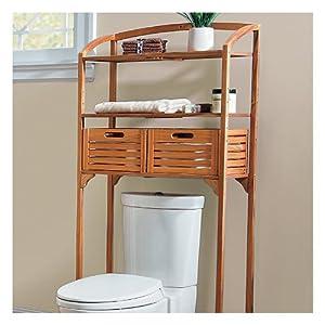 Teak Bathroom Spacesaver With Storage Baskets   Improvements