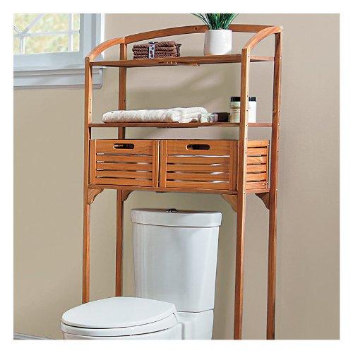 Amazon.com: Teak Bathroom Spacesaver With Storage Baskets   Improvements:  Home U0026 Kitchen