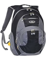 Everest Deluxe Travelers Laptop Backpack, Black, One Size