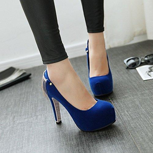 Coréen Style Tide Les Femmes Étanches De Européenne Blue Haut Et Chaussures Américaine le À Nouveau Forage Talon Le Talons Khskx qZwFfaZ