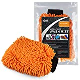 "Yepal Waterproof Microfiber Car Wash Mitt, Size At 8.2""x12.6"", Dry or Wet Usage, Scratch-free , Optional Usage for Auto Clean, Kitchen Clean, Bathroom Clean, Glass Clean and Computer Clean Etc"