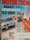 2001 Acura MDX / BMW X5 / Ford Escape / Ford Explorer Sport / GMC Yukon Denali / Hyundai Santa Fe / Infiniti QX4 / Mazda Tribute / Mitsubishi Montero / Pontiac Aztek / Toyota RAV4 / Toyota Sequoia / Corolla / Sentra / Civic Road Test