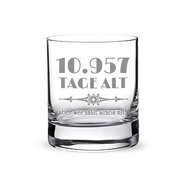 Whiskyglas mit Gravur zum 30. Geburtstag – 10.957 Tage alt aber ...