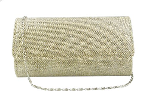 (AITING Women's Evening Party Wedding Ball Prom Clutch Wallet Handbag (Champagne gold))