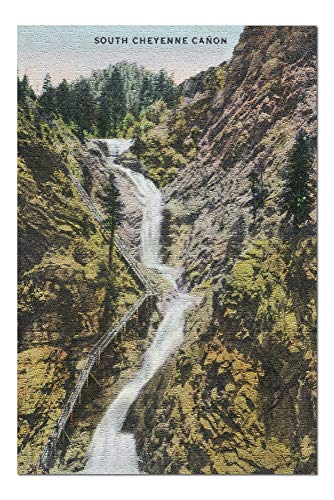 Colorado Springs, Colorado - View of Seven Falls (20x30 Premium 1000 Piece Jigsaw Puzzle, Made in -