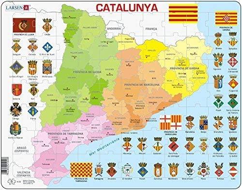 Larsen Puzle Rompecabezas 70 Piezas - Político Mapa del Cataluña: Amazon.es: Juguetes y juegos